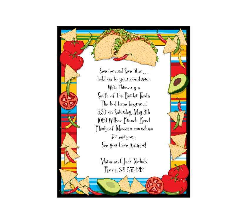 70 How To Create Taco Party Invitation Template Layouts by Taco Party Invitation Template