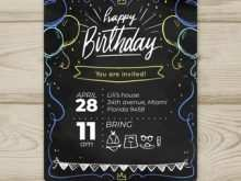 70 Report Birthday Invitation Template Psd For Free for Birthday Invitation Template Psd