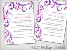 70 Report Wedding Invitation Templates Violet PSD File with Wedding Invitation Templates Violet