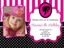 70 Standard Birthday Invitation Barbie Template Now by Birthday Invitation Barbie Template