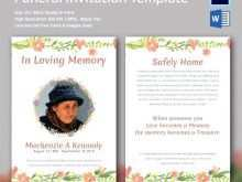 70 Standard Elegant Funeral Invitation Template Now for Elegant Funeral Invitation Template