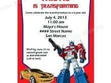70 The Best Transformers Birthday Invitation Template Layouts with Transformers Birthday Invitation Template
