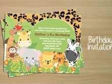 70 Visiting Safari Birthday Invitation Template Free PSD File by Safari Birthday Invitation Template Free