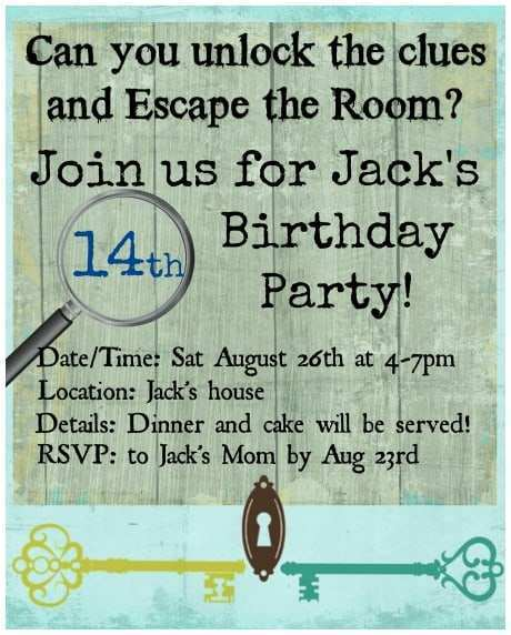 71 Best Escape Room Birthday Invitation Template With Stunning Design by Escape Room Birthday Invitation Template