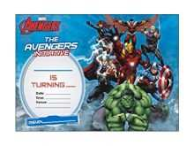 71 Creating Avengers Party Invitation Template With Stunning Design by Avengers Party Invitation Template