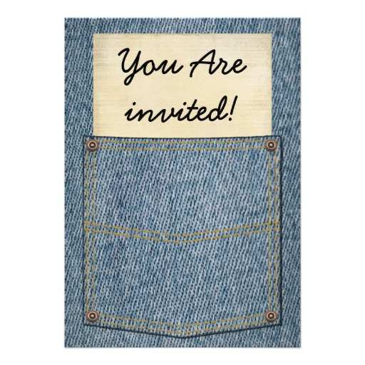 71 Creating Denim Party Invitation Template in Word for Denim Party Invitation Template