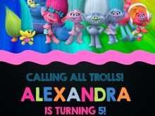 71 Creating Trolls Party Invitation Template Download with Trolls Party Invitation Template