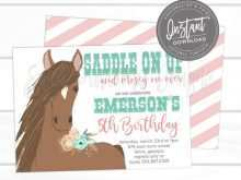 71 Format Horse Birthday Invitation Template For Free with Horse Birthday Invitation Template