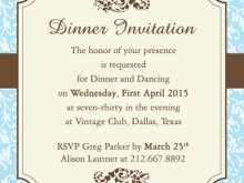 71 Free Printable Dinner Party Invitation Template Formating by Dinner Party Invitation Template