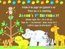 71 Free Printable Jungle Party Invitation Template Free PSD File for Jungle Party Invitation Template Free
