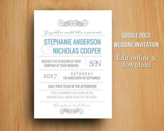 71 Free Wedding Invitation Template Google Docs Formating by Wedding Invitation Template Google Docs