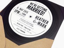 71 Online Vinyl Record Wedding Invitation Template Maker by Vinyl Record Wedding Invitation Template