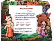 Birthday Invitation Template Chota Bheem