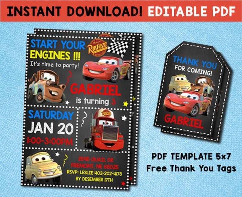 71 Report Cars Birthday Invitation Template Free Download in Photoshop by Cars Birthday Invitation Template Free Download