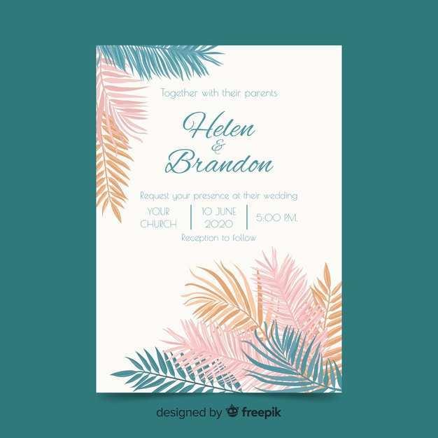 71 Visiting Pastel Wedding Invitation Template For Free by Pastel Wedding Invitation Template