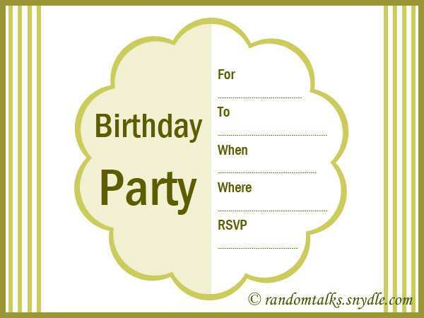 72 Blank Adults Birthday Invitation Template Templates for Adults Birthday Invitation Template