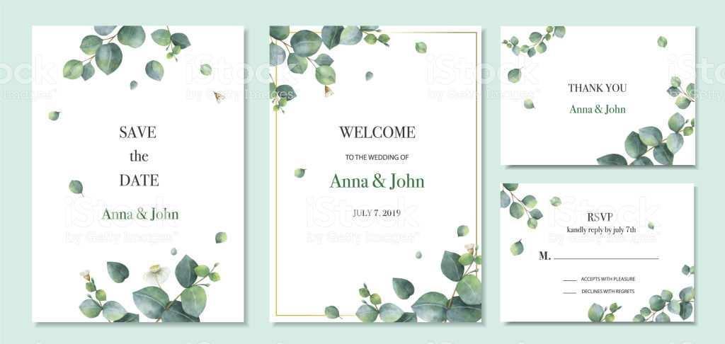 72 Creating Wedding Invitation Template Eucalyptus Layouts with Wedding Invitation Template Eucalyptus