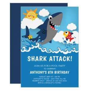 72 Customize Baby Shark Birthday Invitation Template For Free by Baby Shark Birthday Invitation Template