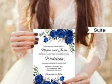 72 Customize Our Free Royal Blue Wedding Invitation Template for Ms Word with Royal Blue Wedding Invitation Template