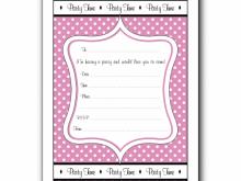 72 Free Printable Birthday Invitation Template For Girl Formating for Birthday Invitation Template For Girl