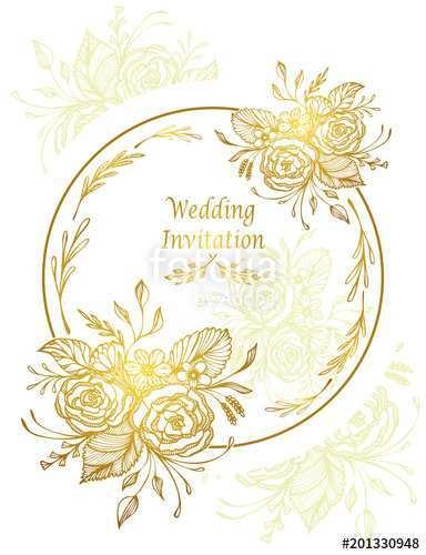 72 Free Printable Elegant Gold Wedding Invitation Template For Free For Elegant Gold Wedding Invitation Template Cards Design Templates