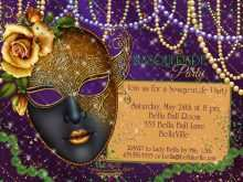 Masquerade Party Invitation Template Free