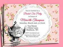 72 Free Victorian Tea Party Invitation Template Maker by Victorian Tea Party Invitation Template