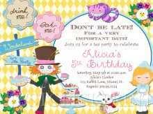 72 Report Blank Alice In Wonderland Invitation Template for Ms Word for Blank Alice In Wonderland Invitation Template