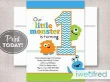 72 The Best Monster Birthday Invitation Template PSD File for Monster Birthday Invitation Template