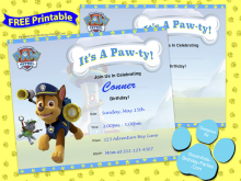 72 The Best Paw Patrol Party Invitation Template Photo by Paw Patrol Party Invitation Template