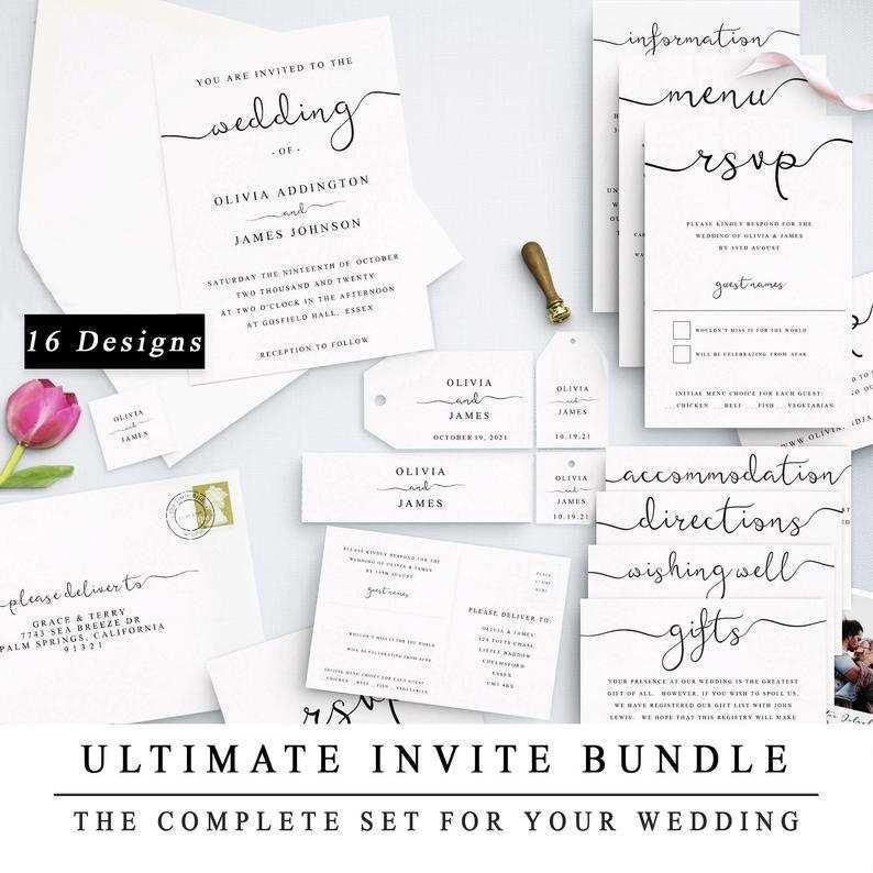 72 The Best Wedding Invitation Template Bundle Layouts with Wedding Invitation Template Bundle