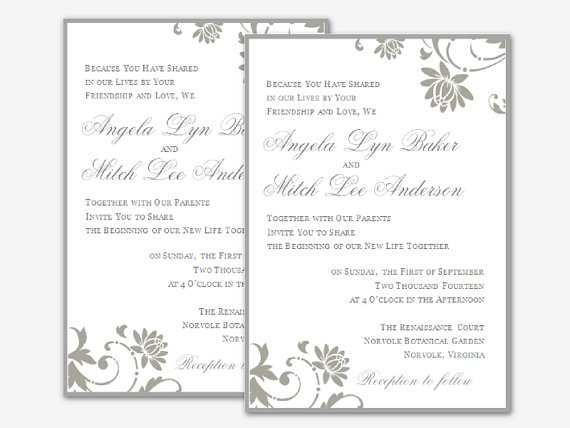 72 The Best Wedding Invitation Template For Ms Word Now for Wedding Invitation Template For Ms Word