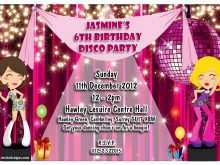 72 Visiting Disco Party Invitation Template Now with Disco Party Invitation Template