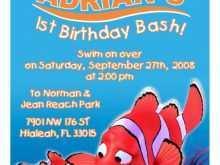 72 Visiting Nemo Birthday Invitation Template Now for Nemo Birthday Invitation Template