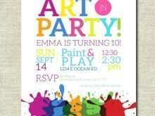 73 Adding Art Party Invitation Template Now with Art Party Invitation Template