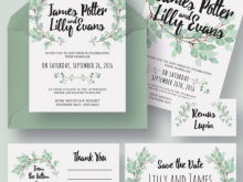 73 Best Wedding Invitation Template Eucalyptus Now for Wedding Invitation Template Eucalyptus