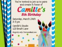 73 Blank Art Party Invitation Template in Word by Art Party Invitation Template