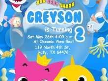 73 Blank Baby Shark Birthday Invitation Template in Photoshop by Baby Shark Birthday Invitation Template