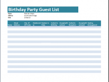 73 Create Party Invitation List Template Templates with Party Invitation List Template