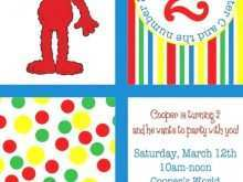 73 Creating Elmo Birthday Invitation Template PSD File by Elmo Birthday Invitation Template