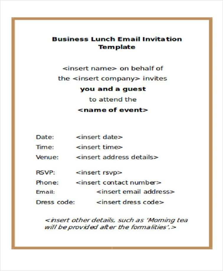 73 Creating Formal Lunch Invitation Template in Photoshop with Formal Lunch Invitation Template