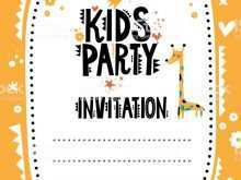 73 Customize Childrens Party Invitation Template With Stunning Design by Childrens Party Invitation Template
