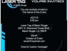 73 Format Birthday Invitation Template Laser Tag PSD File for Birthday Invitation Template Laser Tag