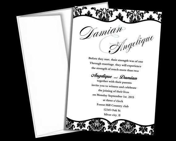 73 Format Blank Wedding Invitation Templates Black And White Formating by Blank Wedding Invitation Templates Black And White