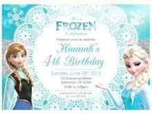 73 Free Printable Birthday Invitation Template Frozen Formating by Birthday Invitation Template Frozen