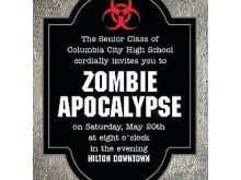 Zombie Birthday Invitation Template