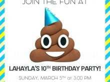73 Online Emoji Party Invitation Template Layouts for Emoji Party Invitation Template