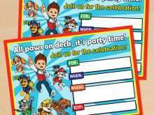 73 Printable Paw Patrol Party Invitation Template Templates with Paw Patrol Party Invitation Template