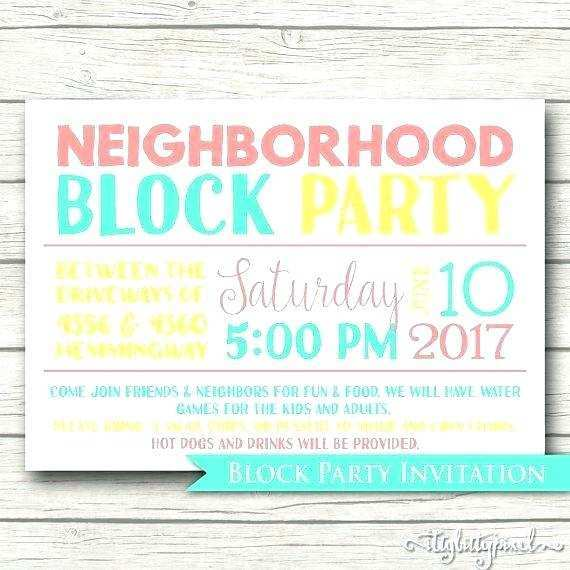 73 Standard Block Party Invitation Template for Ms Word with Block Party Invitation Template