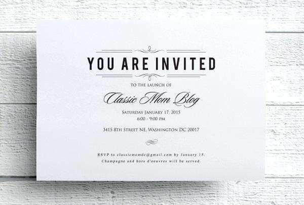 73 The Best Formal Lunch Invitation Template Photo with Formal Lunch Invitation Template